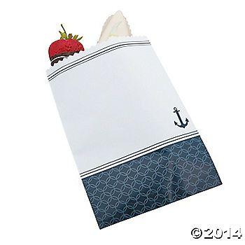 Nautical Wedding Cake Bags for treats table (candy)
