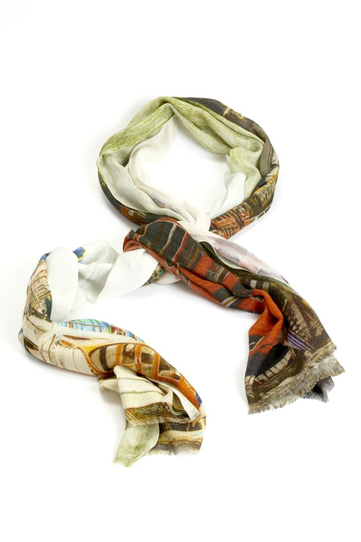 The Shop at AGH and Design Annex feature a selection of scarves in silk blends. This one is from kemi and can be worn as a shawl or a scarf.