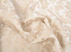 Ivory Velvet Upholstery Fabric With Beautiful Tone on Tone Floral Design.  It is soft and very durable. This upholstery  fabric will make over the top luxurious upholstered furniture, drapery, bedding and much more. 5 yards minimum purchase. Allow 3 weeks for delivery.