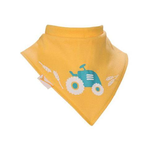 Baby Bandana Bib - Yellow Tractor – Baby Luno