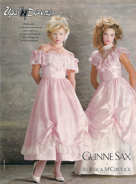 Actually this is the ad from the dress I had in 1987. Mine was mint green. 1980's Gunne Sax, by Jessica McClintock
