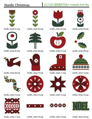 Scalable Vector Graphics - Nordic Christmas