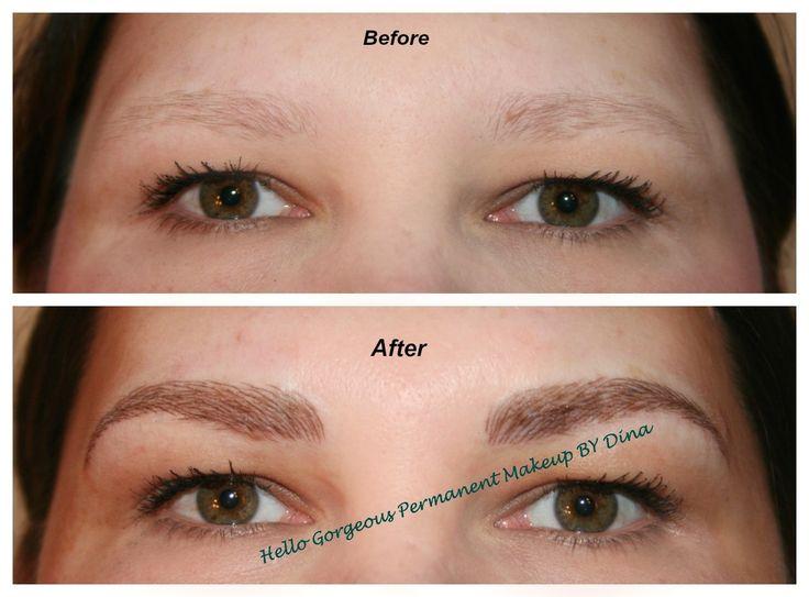 No more sparse eyebrows! www.permanentmakeupbydina.com ...