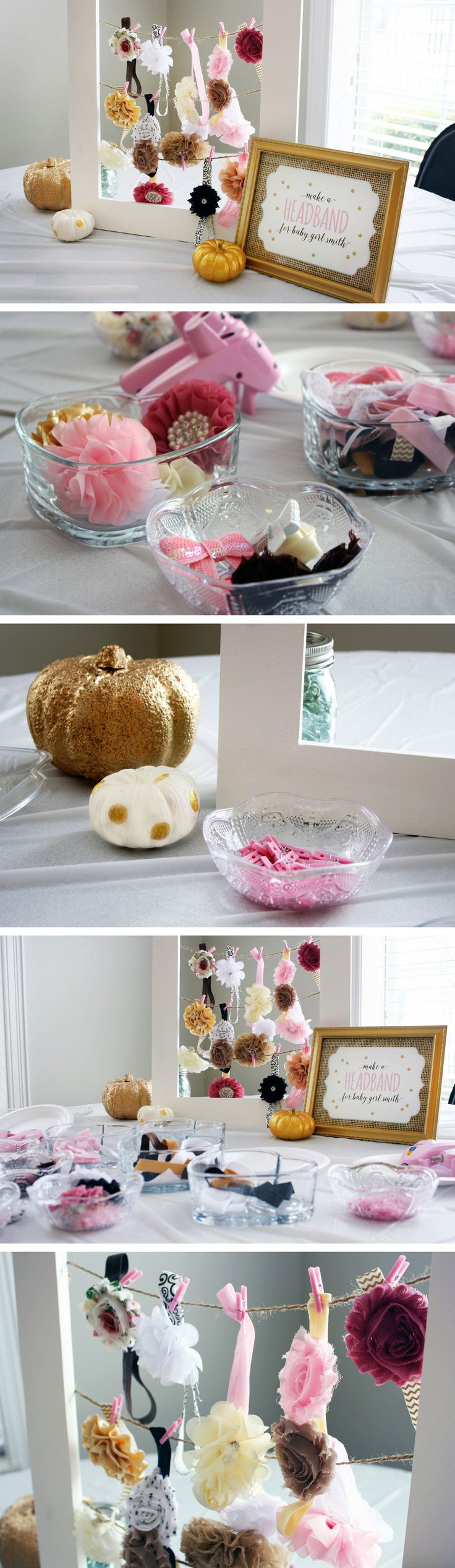 "Modern Glam ""Little Pumpkin"" DIY Headband Making Station"