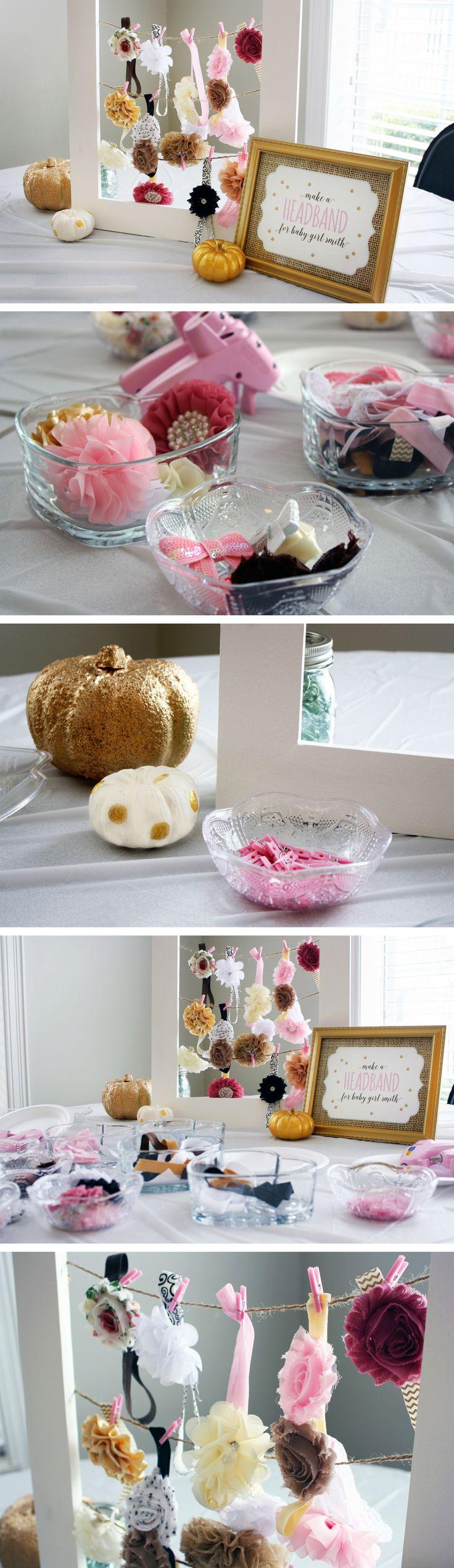 "Modern Glam ""Little Pumpkin"" DIY Headband Making Station"