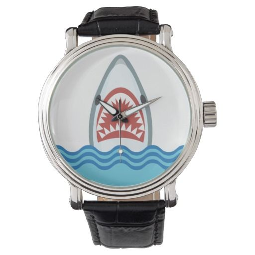 Funny Cartoon Shark Head Watch by Antique Images on Zazzle @zazzle #zazzle #art #home #decor #look #cool #sweet #awesome #awesomeness #buy #shop #shopping #sale #nice #homedecor #jaws #movie #vintage #shark #vacation #fish #ocean #sea #waves #nautical #aquatic #cartoon #illustration #drawing #watch #men #women #fashion #style