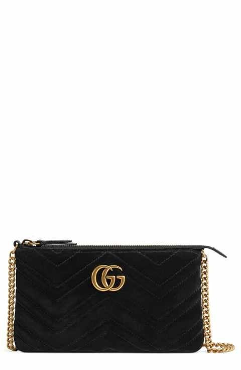 f2d01eaef089 Gucci Mini GG Marmont 2.0 Matelassé Velvet Shoulder Bag Gg Marmont