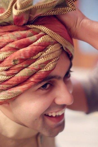Indian Groom Wear - Shaded Safa Pagdi | WedMeGood #wedmegood #pagdi