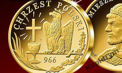 jubileuszowy medal pamiątkowy 1050 lat Chrztu