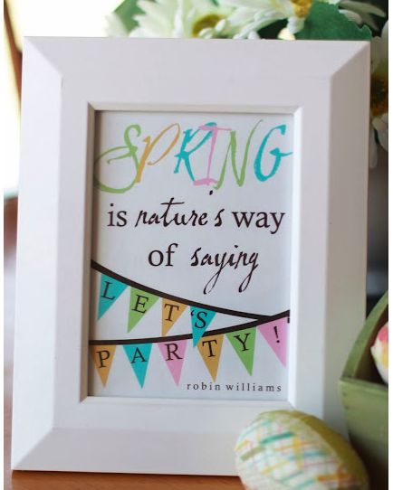 Cute banner graphic free spring printable