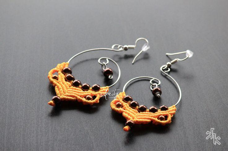 Handmade Macrame earrings by KritysKrafts on Etsy
