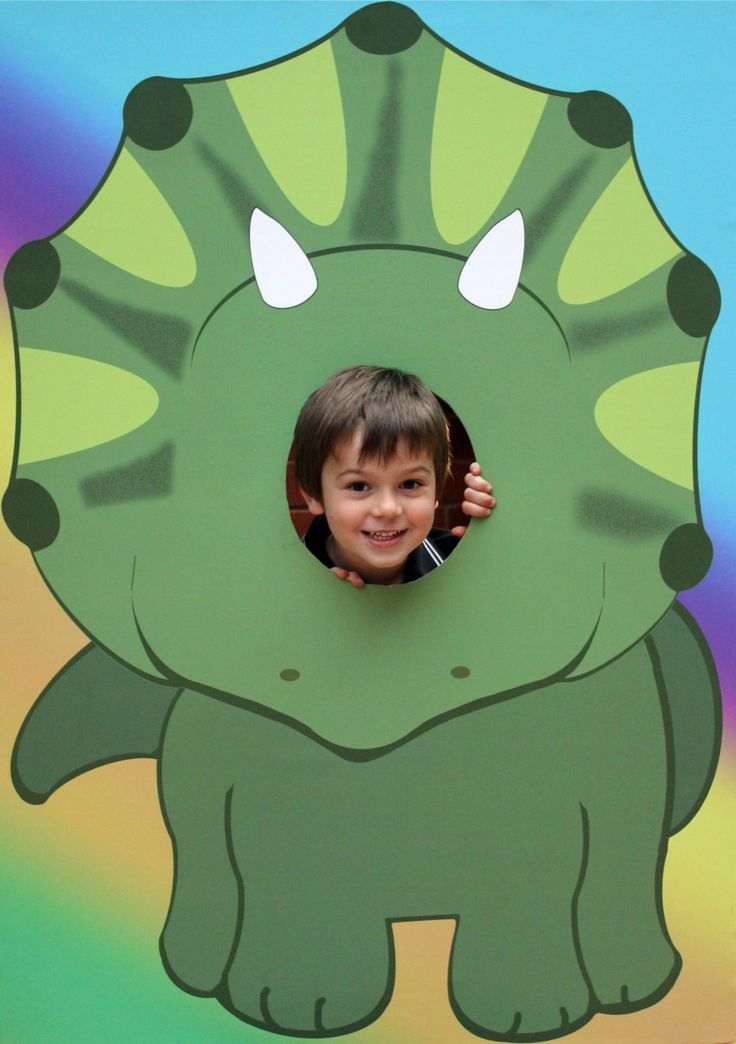EXtra Large Dinosaur Kids Party Photo Prop - Dinosaur Photo Stand In, Dinosaur Head in the Hole , Triceratops DIY Instant Download Printable