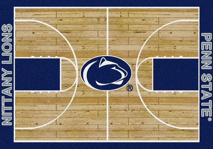 Penn State Rug University Basketball Court