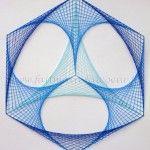 Stitching Géométrique (Geometric paper embroidery)
