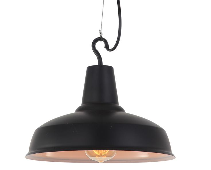 Lámpara colgante retro metal negra #retro #vintage #colgante #lampara #iluminacion