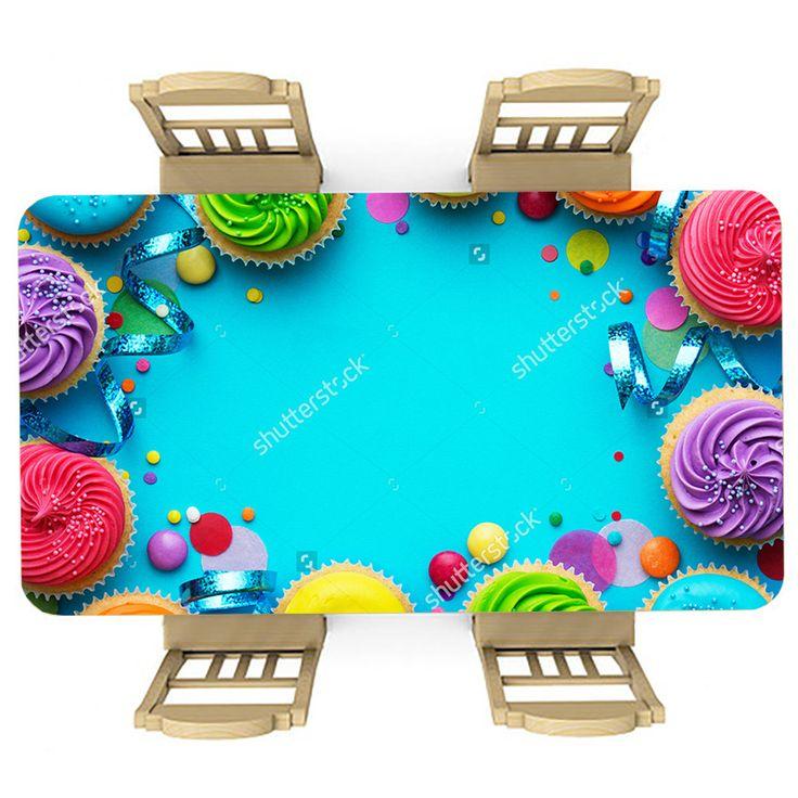 Tafelsticker Feestje | Maak je tafel persoonlijk met een fraaie sticker. De stickers zijn zowel mat als glanzend verkrijgbaar. Geschikt voor binnen EN buiten! #tafel #sticker #tafelsticker #uniek #persoonlijk #interieur #huisdecoratie #diy #persoonlijk #blauw #cupcakes #feest #feestje #kinderkamer #keuken #confetti