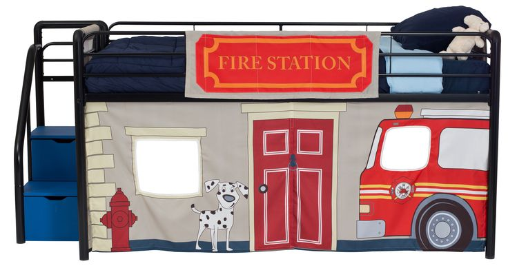 Fire Department Curtain Set for Junior Loft Bed