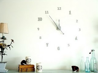 Make your own wall clock, how cool