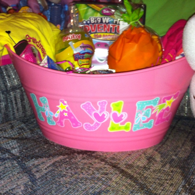 Personalized Easter Basket Vinyl Ideas Pinterest