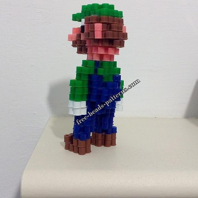 3D perler beads Super Mario Luigi work photos (3)