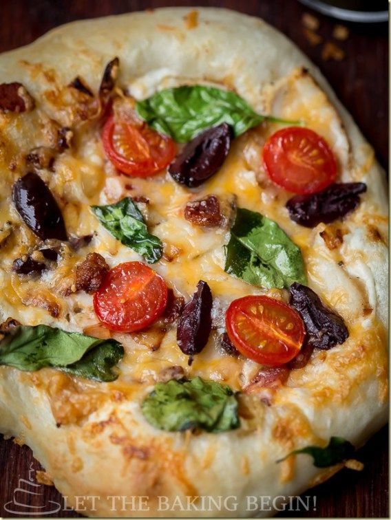 Mediterranean Style Pizza - made from scratch with Breadmaker or without.