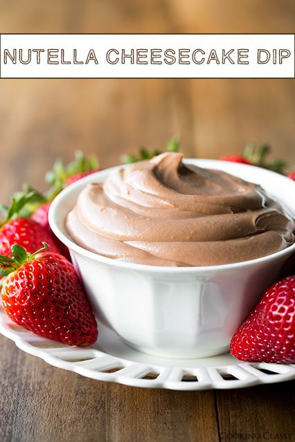 Four Ingredient Nutella Cheesecake Dip