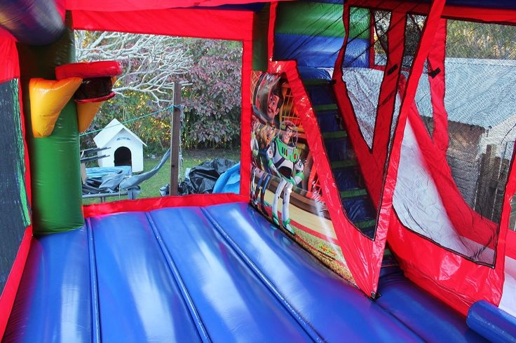 Inside the jumping castle