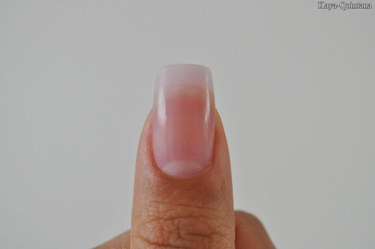 acryl nagels met natuurlijke finish