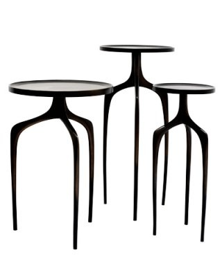 Ty Best Bridger Bronze side tables...my spidey sense tingles when I look at these!