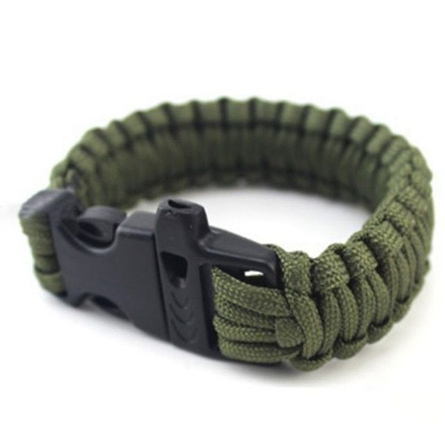 Paracord Seven Core Umbrella Rope Weaving Survival Whistle Escape