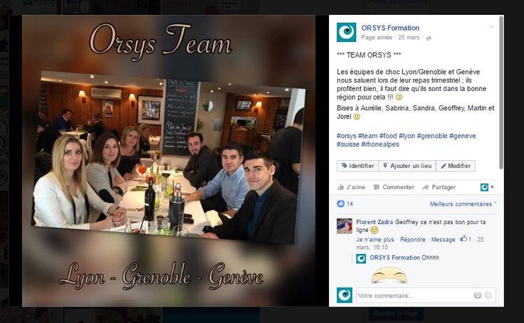 Animations d'équipes Orsys – Cohésion d'équipe Repas d'équipe Rhone Alpes / Suisse #embauche #recrutement #management #perspectives Découvrez nos offres d'emploi : http://www.orsys.fr/?mode=recrutement