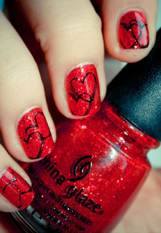 nike sb for sale Valentine  s Day Nail Art