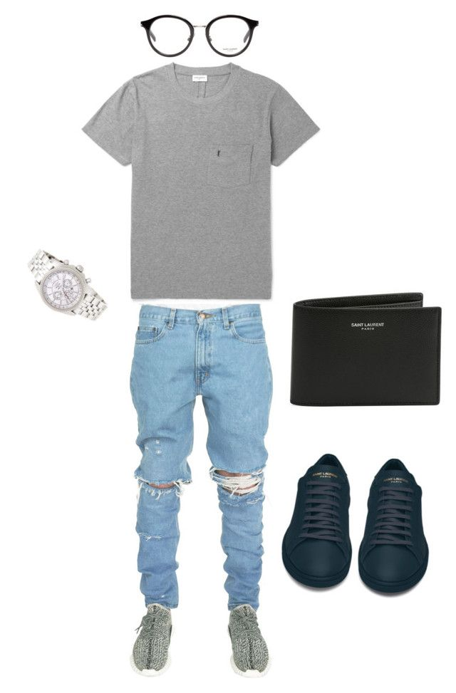 """For him"" by jasminecwalker ❤ liked on Polyvore featuring Yves Saint Laurent, Breitling, men's fashion and menswear"