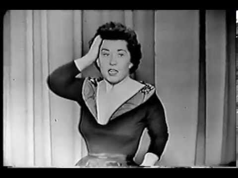 CHARLOTTE RAE 1954 stand-up routine - So funny!  She's got a great routine and can sing too!