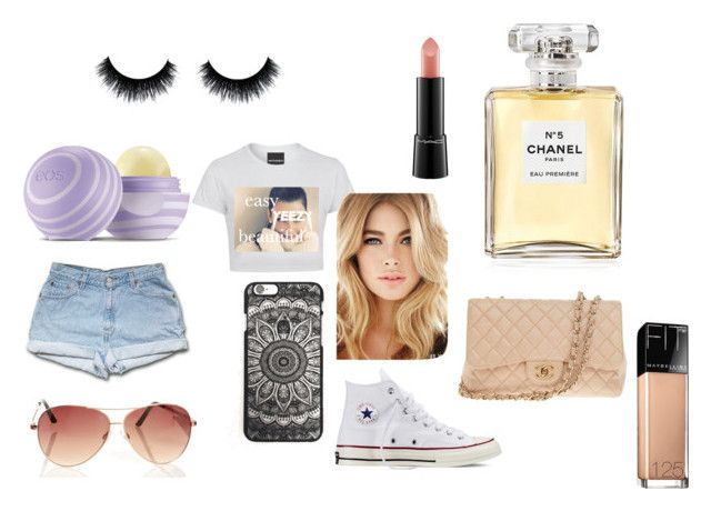 """""""spring"""" by tiggerlilyxoxo ❤ liked on Polyvore featuring adidas Originals, Eos, Converse, Chanel, Maybelline and MAC Cosmetics"""