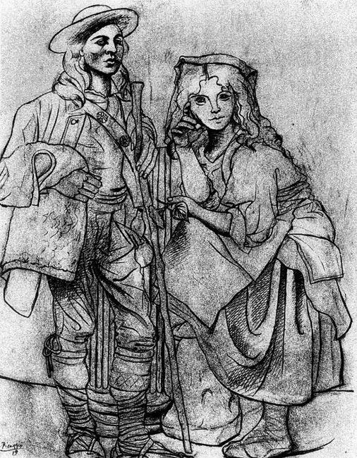 Pablo Picasso, Italian Peasants 1919