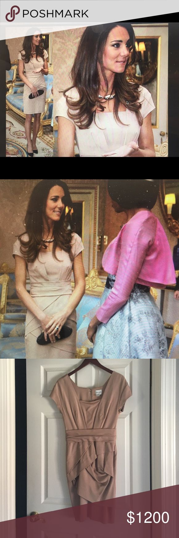 Reiss nude cocktail dress worn by kate middleton when meeting the Obamas in 2011 Reiss Dresses Mini