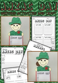 Engage your students in writing while learning about ANZAC day with these writing activities and cute ANZAC craft topper. The ANZAC writing prompts will provoke whole class discussion and are fantastic for young learners. A gorgeous ANZAC digger craft activity is included which will motivate students to do work of a high standard and will make a beautiful, patriotic and eye catching wall display.