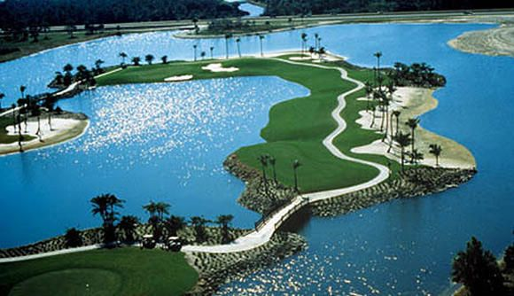 "Flamingo Island Golf Club in Naples, Florida ~ The natural beauty of the land enhances the layout of the course, especially the signature Island Hole at number 5 - Golfweek twice designated the course as one of ""America's Best"" and Golf Digest gives it four stars. It is the last course designed by Robert Trent Jones Sr. and is one of his all-time best."