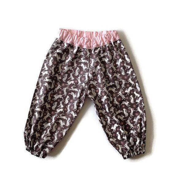 BABY HAREMS RABBITS harem pants baby girls size by TwoBlackRabbits