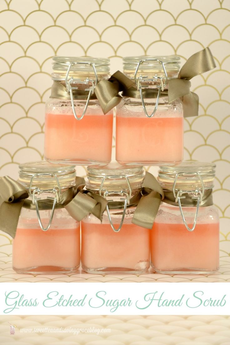 Glass Etched Sugar Hand Scrub Gift  |  Sweet Tea & Saving Grace