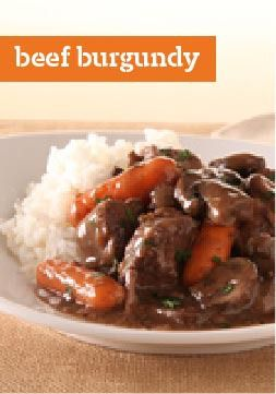 KRAFT RECIPE MAKERS Beef Burgundy – Here's a beef burgundy even the busiest chef can enjoy, thanks to a swift 15-minute prep time and 8 untended hours in the slow cooker.