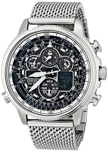Great gift idea Citizen Eco-Drive Men's JY8030-83E Navihawk A-T Analog Display Silver Watch