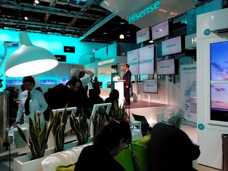 Hisense estuvo presente en IFA 2014 en Berlín con las mejores innovaciones tecnológicas, entre ellas las nuevas características de sus Smart TV y UHD #IFA #IFA2014 #Hisense #Berlín #innovación #tecnología #televisiones #smartphones #tablets #frigoríficos #congeladores #lavadoras