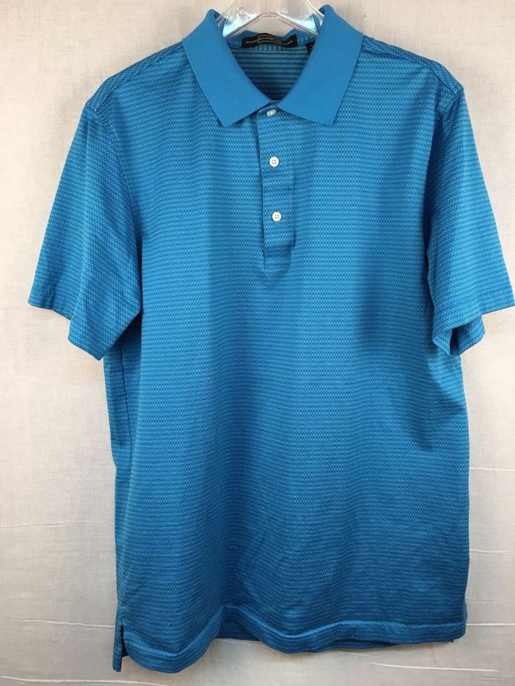 Carnouiste Men's Club Polo Golf Shirt Performance Wear Size Large   | eBay