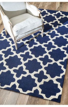 $5 Off when you share! Rugs USA Tuscan Terali Moroccan Trellis Navy Rug