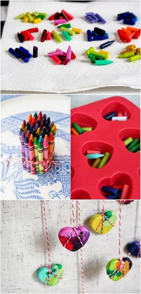 Crayon Hearts. Simply Put Crayon Bits Into A Heart Silicone Mould And Melt Using A Hairdryer. Perfect To Give To Friends, Family Or To Give For Special Occasions Such As Mother's Day, Valentines Day, Birthdays And Christmas.