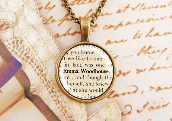 Emma Woodhouse  Small Literature Necklace by wiccanstyle on Etsy, €17.80 #austenism #JaneAusten #etsy #forsale