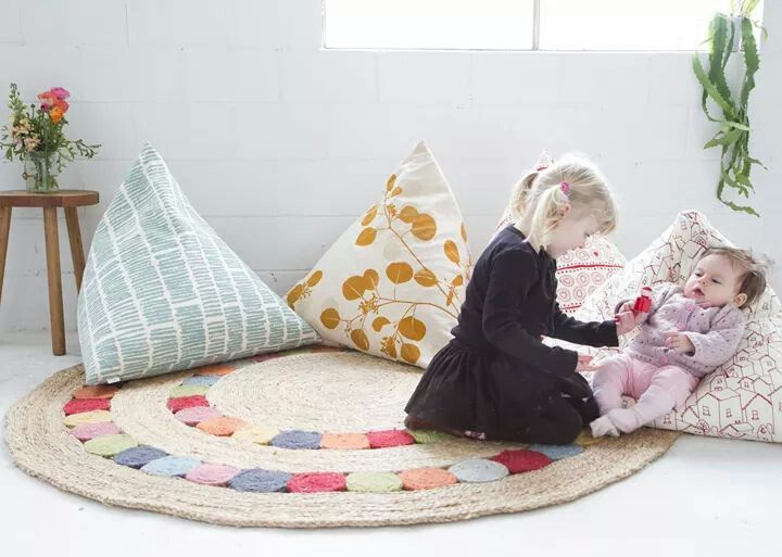 this christmas ink u0026 spindle have branched into readymade homewares releasing a small collection of pyramid floor cushions for kids ottomans andu2026