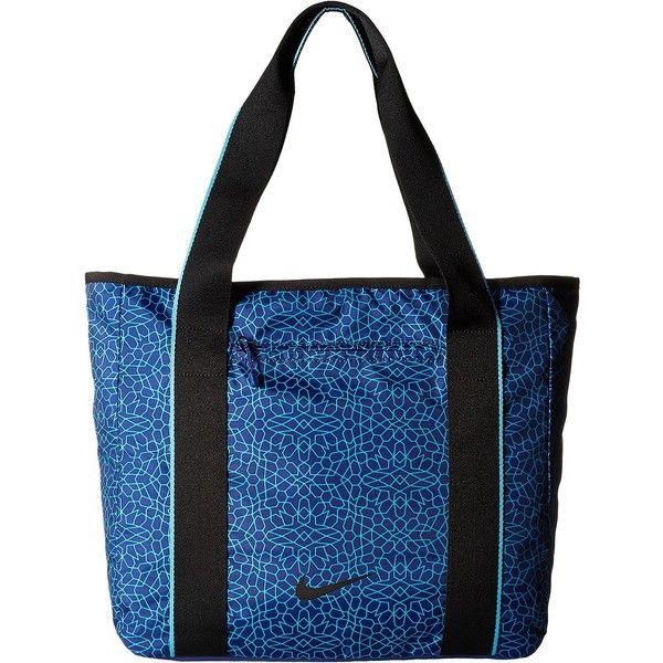 Nike Legend Track Tote (Deep Royal Blue/Omega Blue/Black) Tote... ($43) ❤ liked on Polyvore featuring bags, handbags, tote bags, blue, nike tote bag, zip tote, shoulder strap purses, royal blue handbag and yoga tote